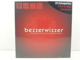 Bezzerwizzer Board Game Trivia Tactics Trickery 2008 Mattel Adult Fun NEW SEALED - $39.59