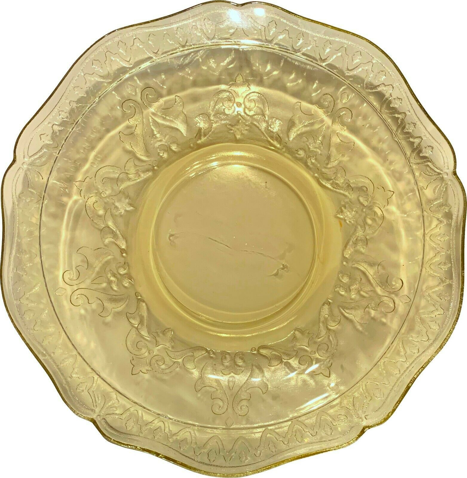 """Amber Depression Glass Plate Patrician Spoke Federal Glass, 6"""" saucer - $19.99"""