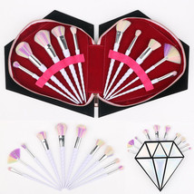 Makeup Brush Set Cosmetic Foundation Blending pencil brushes+Diamond Sto... - $16.64