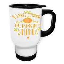 This Little Pumpkin Is Nine White/Steel Travel 14oz Mug t750t - $334,32 MXN