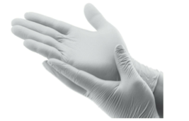 Disposable Latex Gloves Powder Free / White / Large / 100pc - $13.85