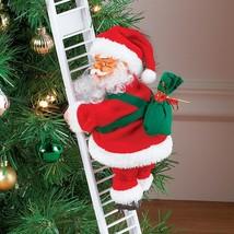 Singing Jingle Bells Animated Climbing up and Down Christmas Santa Claus... - $13.86