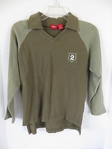 Boys Mossimo Supply Co. Olive Green & Brown Polo Size M - $4.99