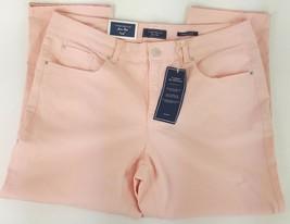 Charter Club Bristol Capri Stretch Pants Womens Sz 14 Solid Pink Tummy S... - $17.59