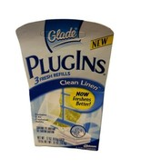 Glade Plugins Scented GEL 3 Refills Only Clean Linen New In Box Disconti... - $18.70