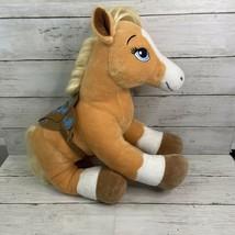 """Build A Bear Plush Palomino Horse BAB 16"""" With Saddle - $13.85"""