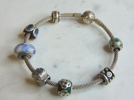 Womens Vintage Estate Sterling Silver Pandora Charm Bracelet 30.1g E5268 - $155.00