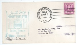 First Trip Highway Post Office SIGNED 1949 Jackson TN Grenada MS HPO 1 C... - $3.99