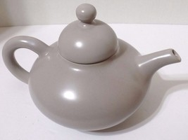 FRANCISCAN TEAPOT 1949-53 EL PATIO MATTE GLAZE FINISH LIGHT GREY CALIF P... - $33.25