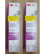 2 x 3M Under Sink Water Filter Replacement  filter  NEW  2 pack - $37.61