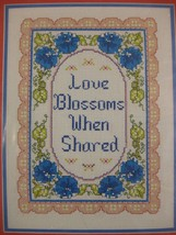 Colortex LOVE BLOSSOMS WHEN SHARED Sealed Counted Cross Stitch Kit 9x12 ... - $19.95