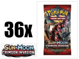 Pokemon Crimson Invasion 36 Booster Pack Lot = 1 Booster Box Pokemon TCG - $75.99