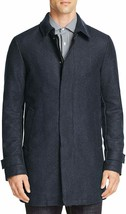 Herno Exclusive Men's Denim Wool Blend Overcoat Heather Blue Size L - XXL - $499.99