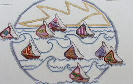 Sail Away Cross Stitch Pattern Chart Meredith Mark Sailboats 1985 - $7.43