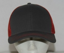 OC Sports Adjustable Snapback Style Mesh Back Red Charcoal Baseball Cap image 1