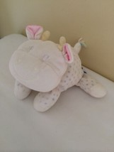"""Eden Baby White Cow Rattle Soft Stuffed Plush Toy Blue Dots 6"""" - $29.70"""