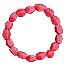 Pink Poppy Glass Pebbles Bracelet - Global Mamas - $17.49