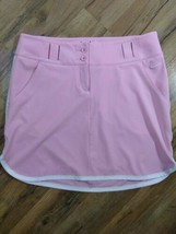 Nike Golf Tour Performance Womens Sz 6 Pink White Open Belt Skirt - $19.75