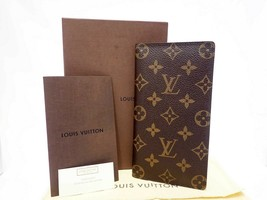 Louis Vuitton ~ Leather Long Wallet  - Brown Monogram  - $315.00