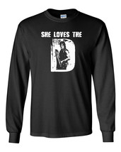 599 She Loves the D Long Sleeve Shirt daryl zombie walking tv show dead redneck - $18.00+