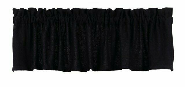Primary image for Olivia's Heartland country primitive cabin Burlap BLACK window VALANCE curtain