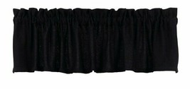 Olivia's Heartland country primitive cabin Burlap BLACK window VALANCE c... - $26.95