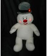 "17"" BUILD A BEAR LIGHT UP FROSTY THE SNOWMAN CHRISTMAS STUFFED ANIMAL PL... - $32.73"