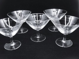 Rosenthal Crystal Spirale Champagne Sherbet Lot of 5 Glasses Spiral Cut ... - $69.29