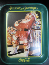 "Coca Cola Metal Santa Tray  ""Season's Greetings""- New - $11.39"