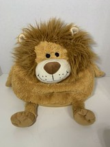 "Jay At Play Mushable Pot Bellies 10"" microbead pillow plush lion tan - $9.89"