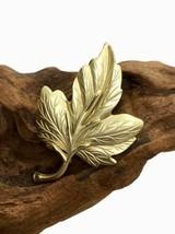 Leaf Brooch Pin, Gold Tone, Retro Vintage Boho Bohemian, Summer Garden Jewelry* - $9.89