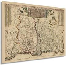 1687 Philadelphia Pennsylvania Map - Old Philadelphia PA Vintage Map Wall Art -  - $34.99+