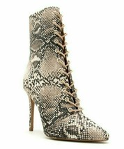 Qupid, Beige & Brown Snake Show Ankle Boot - $36.00