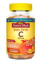 Nature Made Kids First Vitamin C 125MG Gummies 60-CT EXP:08/22 SAME-DAY Ship - $9.79