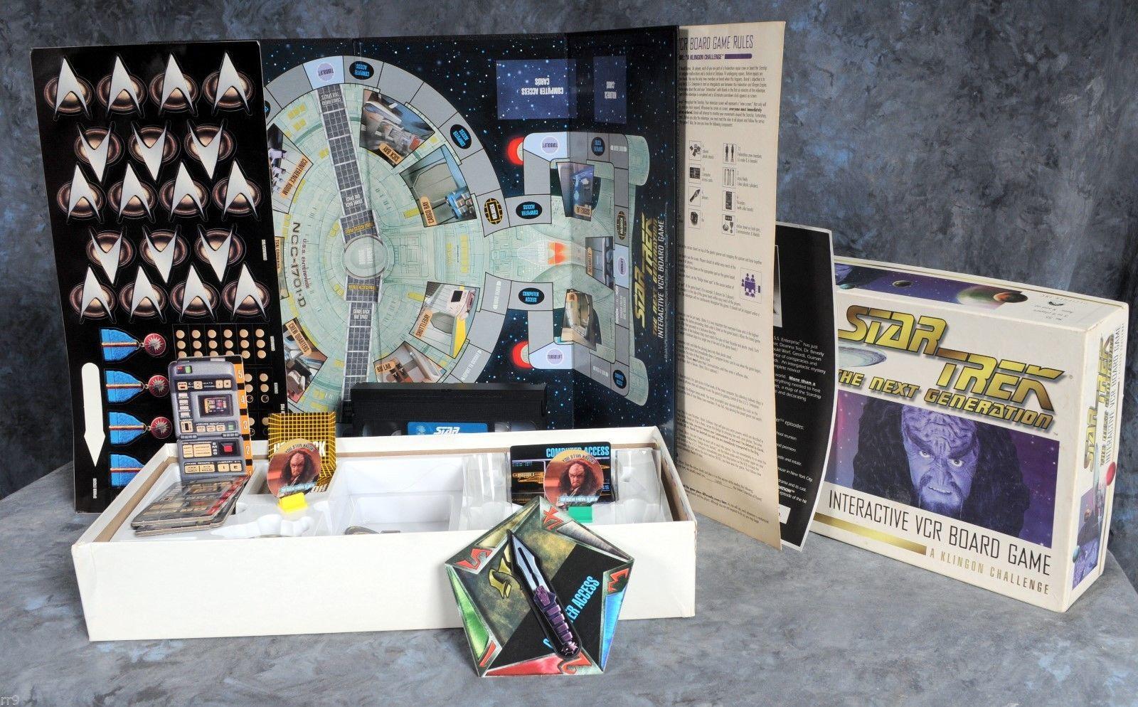 Star Trek The Next Generation Interactive VCR Board Game A Klingon Challenge