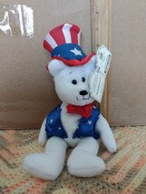 SAM Limited Treasures Collectible Bear Premier Edition Red White & Blue Bear - $6.99