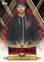 Sami Zayn 2019 Topps WWE Road To Wrestlemania Roster Card #WM-18 - $0.99