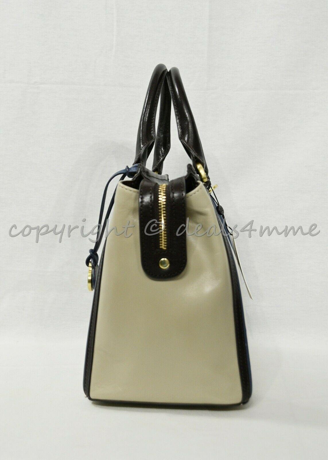 NWT Brahmin Schooner Smooth Leather Satchel/Shoulder Bag in Sand Westport image 4