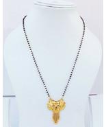 Gold Tone Bridal Black Bead Mangalsutra Jewelry Ethnic Indian Women Neck... - $13.78