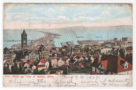 Panorama Duluth Minnesota 1907 postcard - $5.94