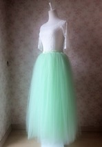 MINT GREEN Maxi Length 4 layer Full Tulle Skirt Custom Bachelorette Tutu... - $51.00