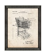 Shopping Cart Patent Print Old Look with Black Wood Frame - $24.95+