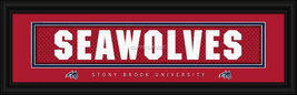 "Stony Brook University ""Seawolves"" 8x24 Slogan Stitched Jersey Framed Print - $39.95"