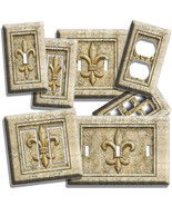 FLEUR DE LIS ROYAL CROWN FLOWER LIGHTSWITCH WALL PLATE OUTLET LIVING DIN... - $8.09+