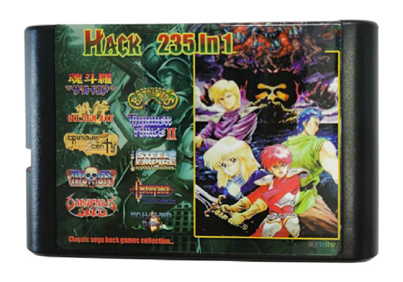 235 in 1 Hack Version Classic Games - 16 bit MD Cartridge sega MegaDrive Genesis - $31.79