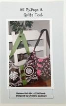 "Quilt Pattern Purse Handbag Uptown Girl 16"" x 9.5"" All My Bags & Quilts ... - $7.37"