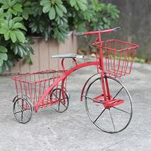 """Tricycle Plant Stand with Two Baskets (24""""L x 11.25""""W x 17.5""""T) (Red) - $59.95"""