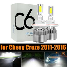 2x 6000K HID White LED High + Low Headlight Kit Bulbs for Chevy Cruze 2011-2016 - $13.06