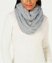 INC International Concepts Textured Knit Infinity Scarf Eyelash Yarn, Gray - $14.85