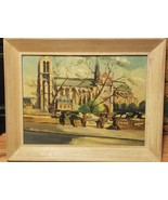 Original Oil Painting On Wood Signed Jean J Capron Vintage - $125.00